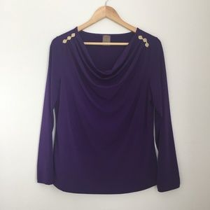 Purple Gold Designs Long sleeve Cowl Neckline